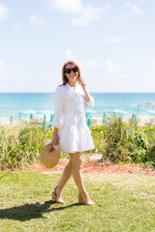 design darling white shirtdress in palm beach