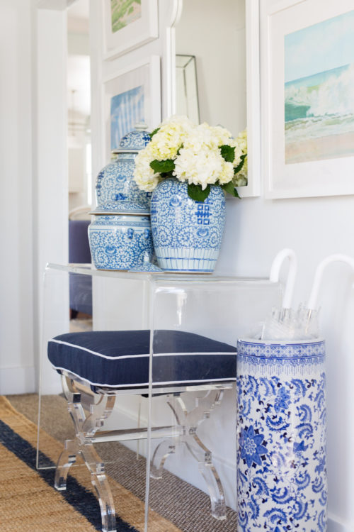 design darling cb2 acrylic console and wisteria acrylic x bench