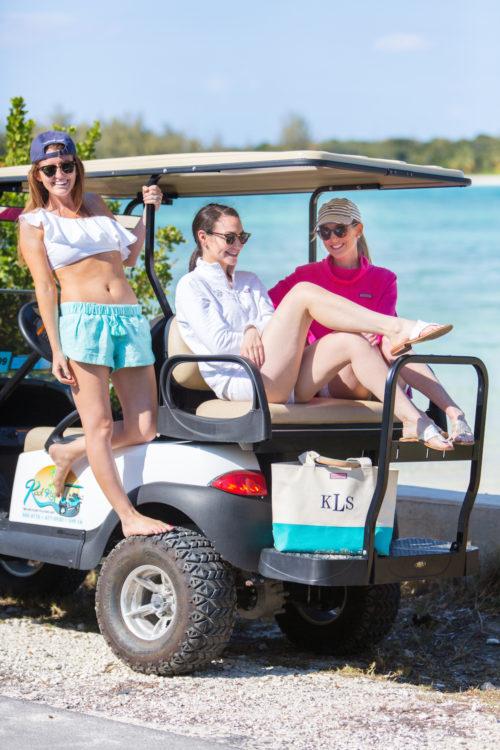 design darling golf cart in the bahamas