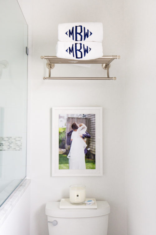 design darling monogrammed towels and framebridge wedding photos