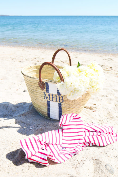 mark & graham monogrammed beach bag