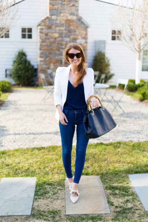 design darling smythe duchess blazer in white