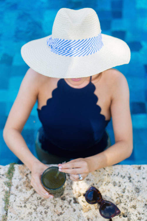 hat attack harbor hat with marysia swim mott maillot in navy
