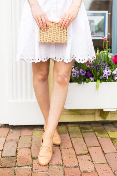 pamela munson charlotte clutch and stubbs & wootton panama woven slipper