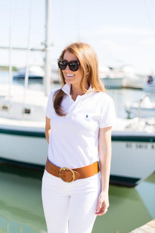 polo ralph lauren classic fit mesh polo shirt and lennox vachetta wide belt on design darling