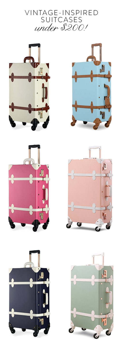 steamline luggage for less vintage-inspired steamer suitcases on design darling