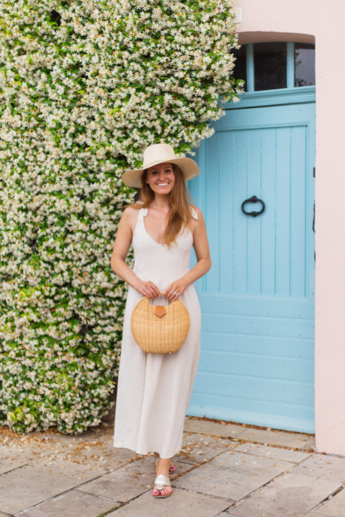 cuyana summer hat rachel pally linen katy dress
