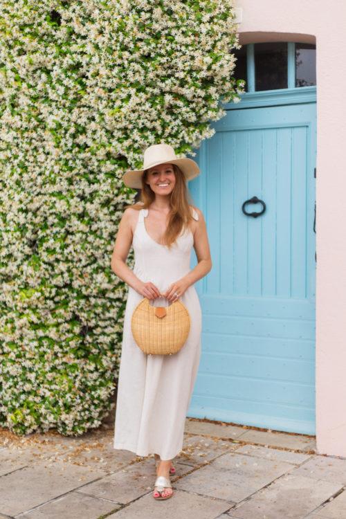 cuyana summer hat rachel pally linen katy dress