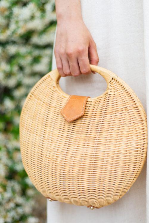 jmclaughlin natural victoria circular wicker bag