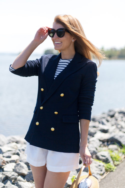 polo ralph lauren knit double-breasted blazer on design darling