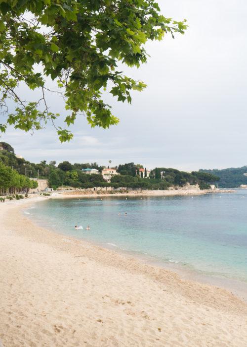beach in villefranche sur mer