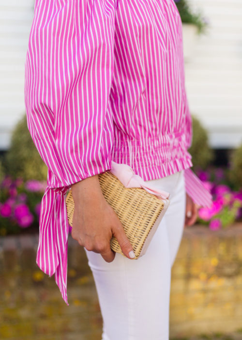 caroline constas lou crop top and pamela munson charlotte clutch