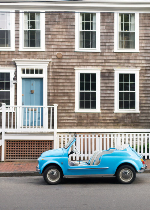 turquoise fiat jolly on nantucket