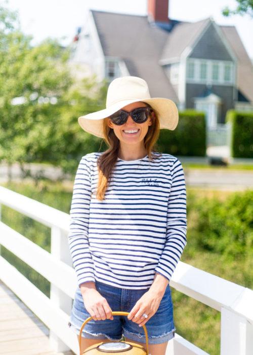 cuyana summer hat polo ralph lauren striped shirt nantucket lightship basket on design darling