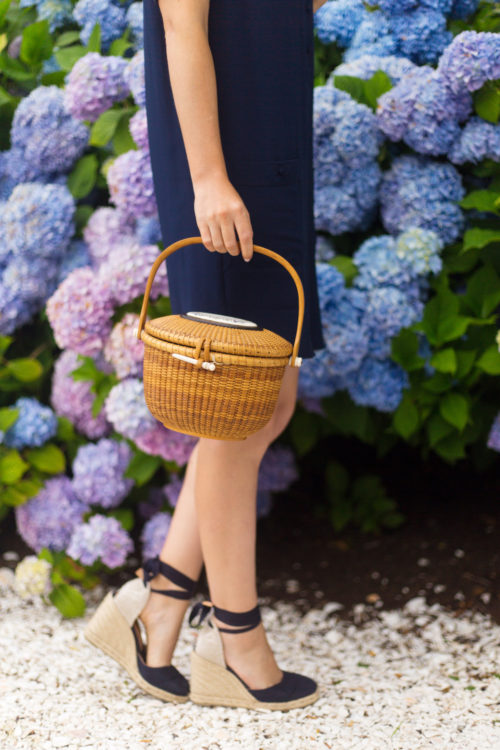 nantucket lightship basket and castaner carina wedge espadrilles