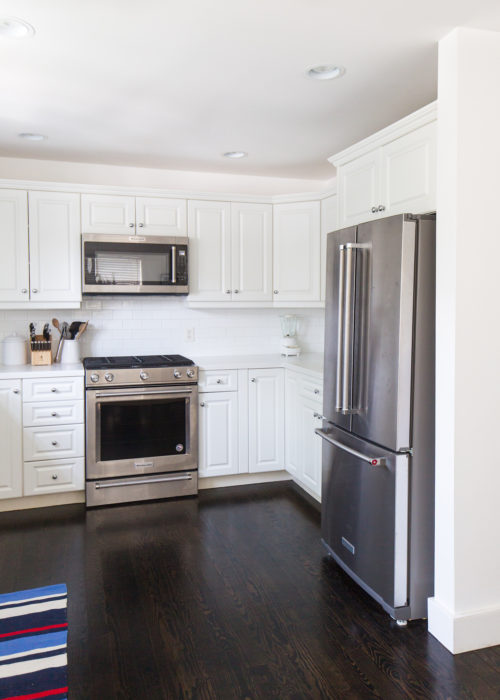 kitchenaid stainless steel range and refrigerator
