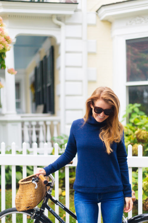 dudley stevens park slope turtleneck in navy on design darling