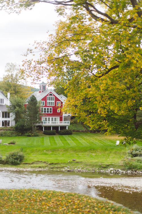 fall foliage in woodstock vt on design darling