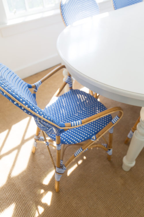 frontgate paris bistro arm chair in capri blue