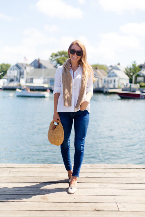 j.crew stretch button-up shirt with peplum and bespoke stubbs & wootton