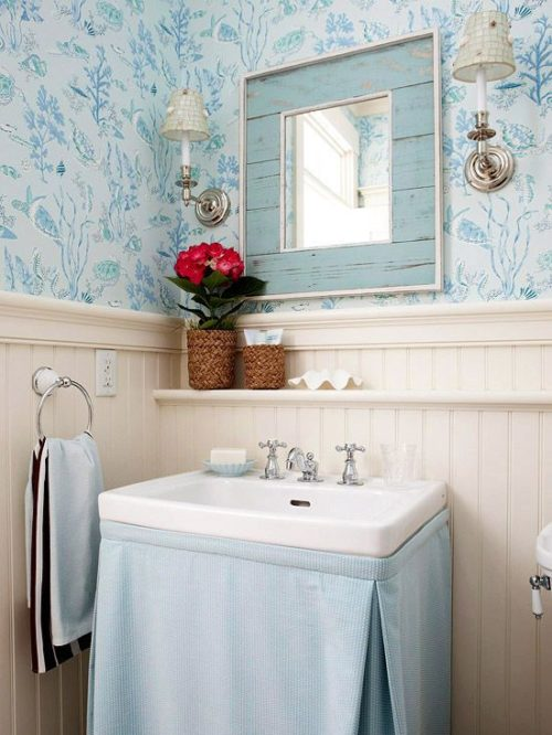 skirted sink in bathroom inspiration