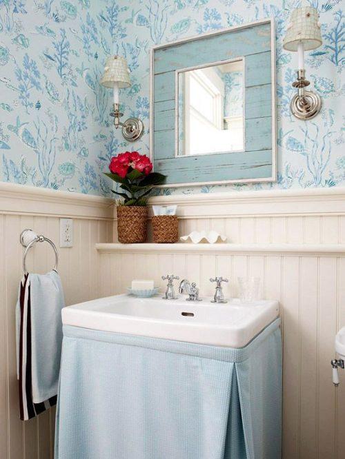 skirted sink in bathroom inspiration