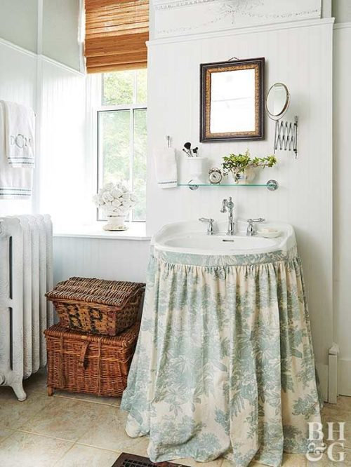 skirted sink inspiration on design darling